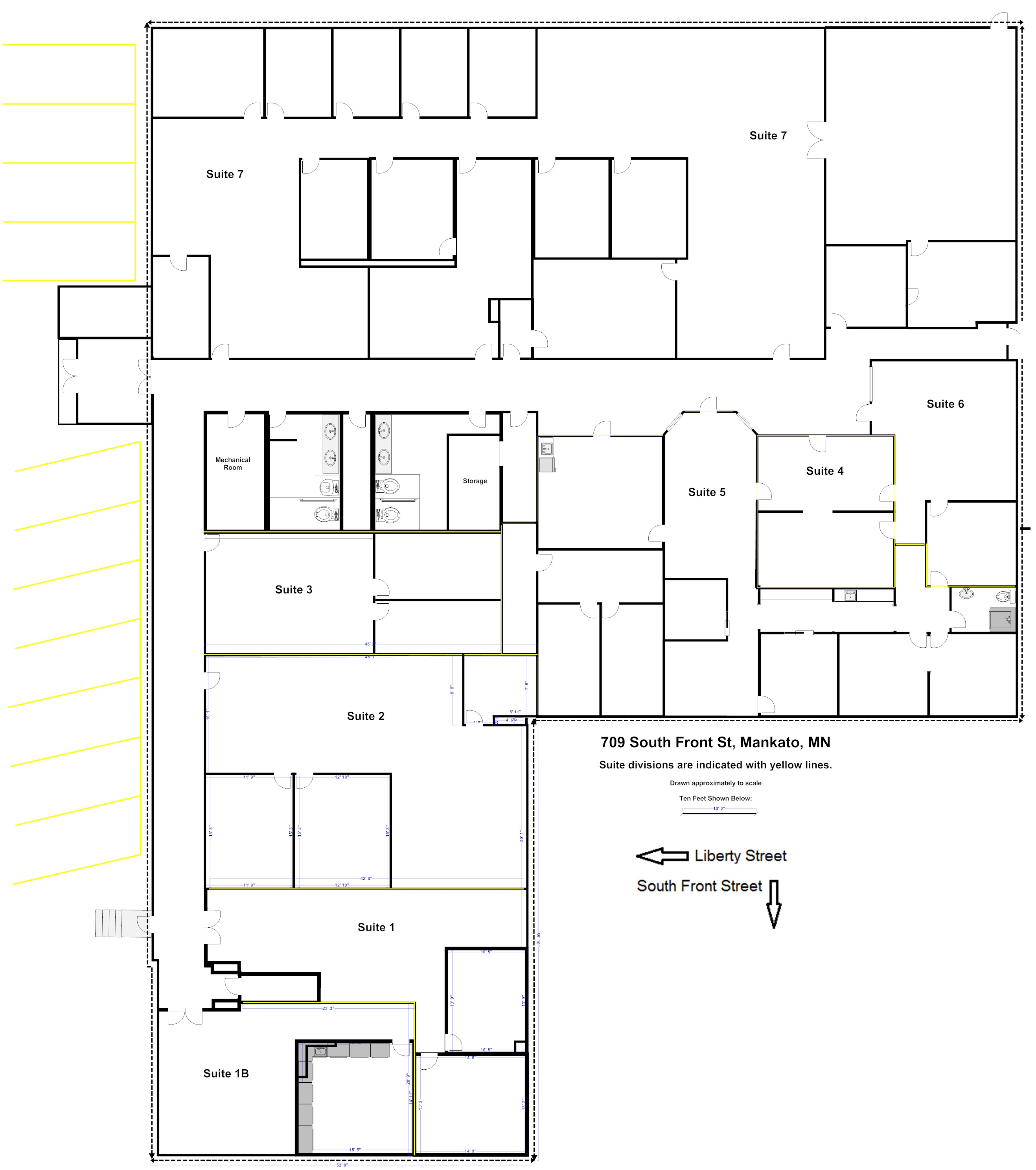 Click on the name of each room to see a photograph of that for Commercial building plans